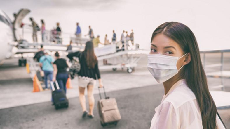 lotnisko, wirus, maseczka, koronawirus, samolot