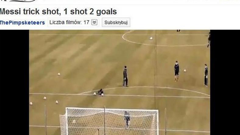 Messi jednym strzałem zdobył dwa gole