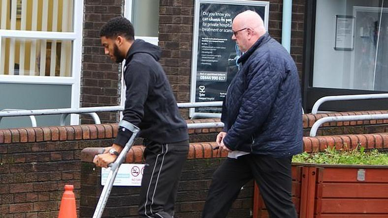Image result for images for liverpool joe gomez injury treated in hospital