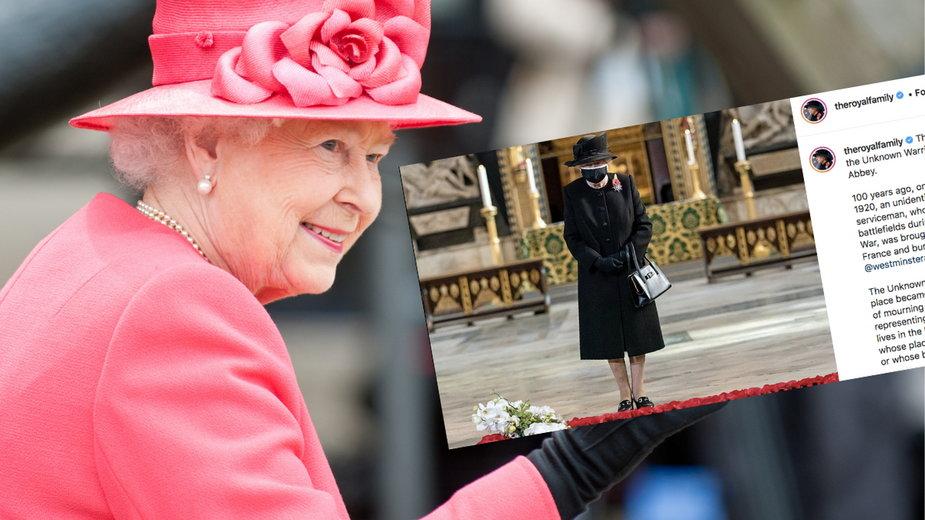 Królowa Elżbieta po raz pierwszy w maseczce