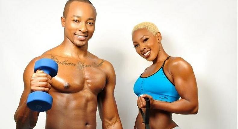 Fitness guru Jane Mukami and her late brother, Stephen.
