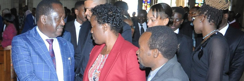 Raila Odinga, Rosemary Odinga with Sigar Agumba
