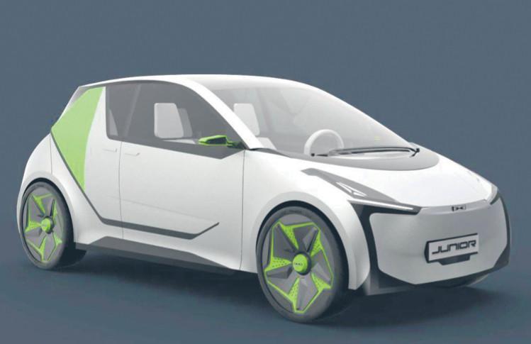 Jeden ze wstępnych projektów polskiego samochodu elektrycznego z konkursu ogłoszonego przez ElectroMobility Poland