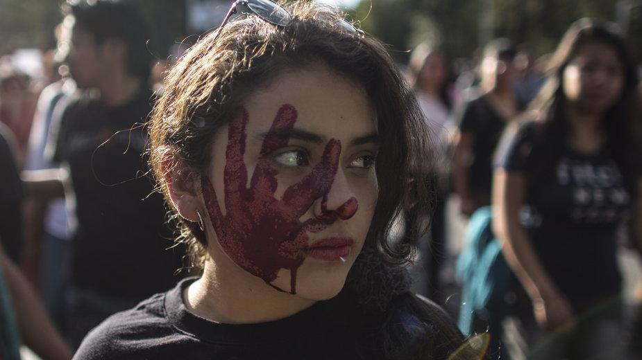 Protest po uprowadzeniu 43 studentów kolegium nauczycielskiego Ayotzinapa, 2015. r., Guerrero