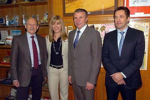 Hansjorg Virc, Snežana Samardžić Marković, Sergej Bubka i Veselin Jevrosimović