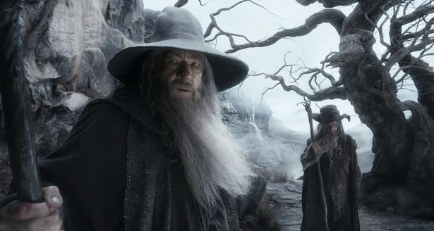 """""""Hobbit: Pustkowie Smauga"""" Ian McKellen, Sylvester McCoy"""