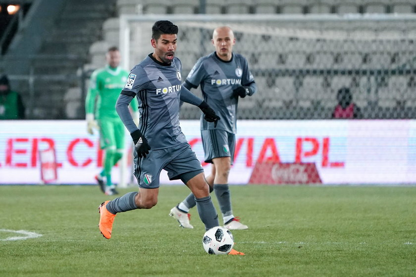 Pilka nozna. Ekstraklasa. Cracovia Krakow - Legia Warszawa. 24.02.2018