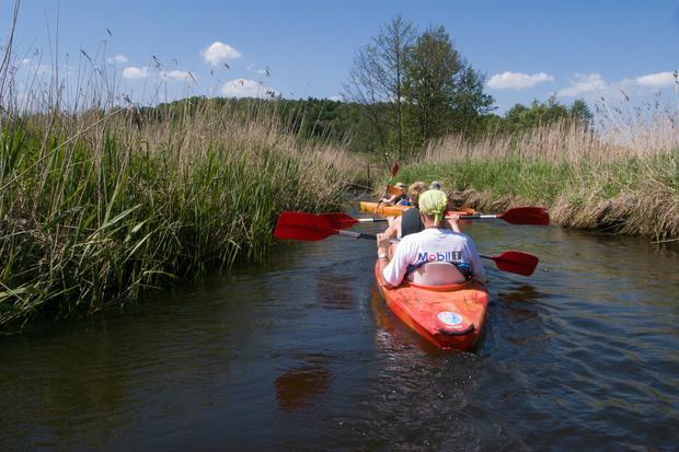 Spływ rzeką Wieprz, Krasnobród