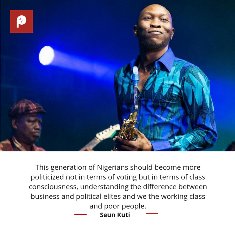 Seun Kuti speaks on Nigerian politics (Instagram/Seun Kuti)