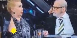 Wpadka w programie na żywo! Sukienka spłatała jej figla