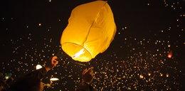 Lampiony poleciały w niebo
