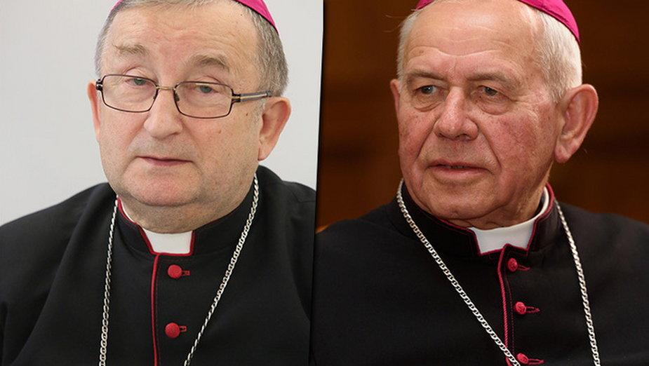 Biskup Stefan Regmunt i biskup Stanisław Napierała