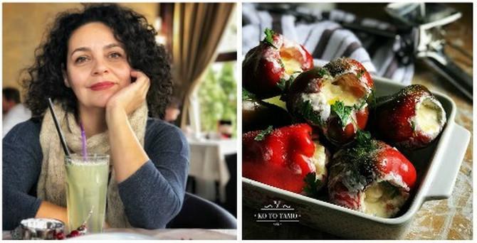 """Sandra Pecić, autorka bloga """"Ko to tamo"""" i njen jesenji bluz sa paprikama"""