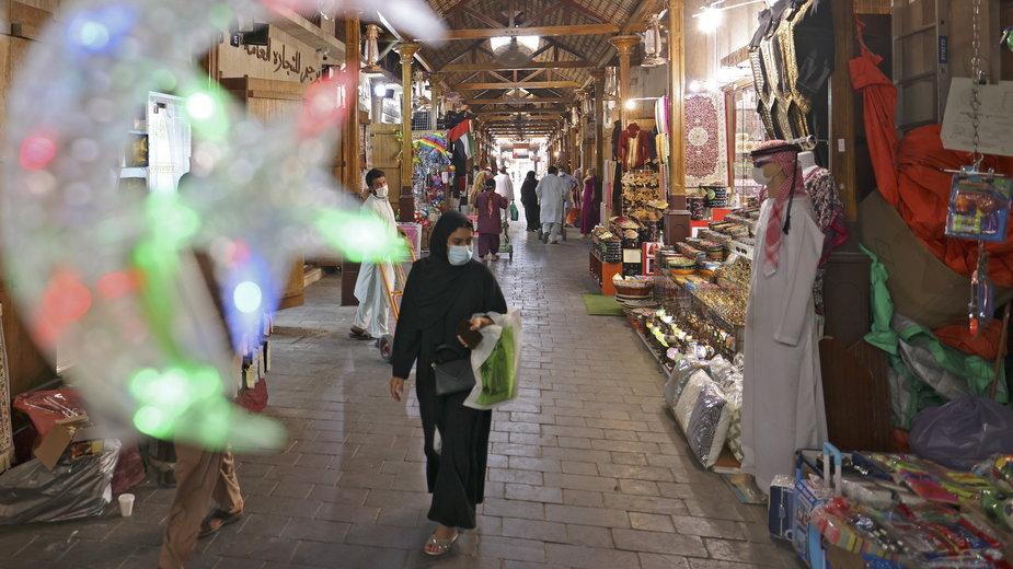 Dekoracja ramadanowa na targu w Dubaju