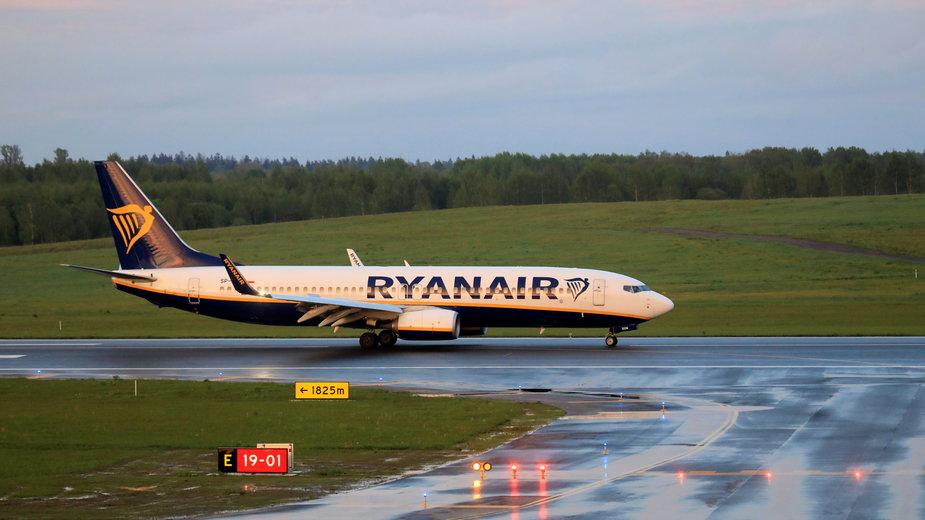 Zmuszony do lądowania w Mińsku samolot Ryanaira