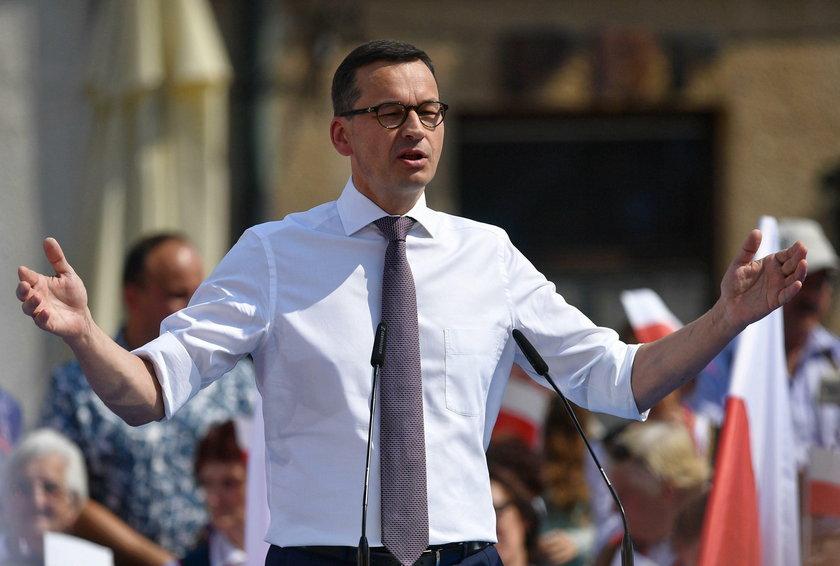 Mateusz Morawiecki na wiecu w Sandomierzu