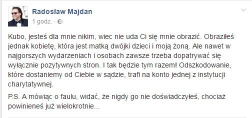 Facebook Radosław Majdan