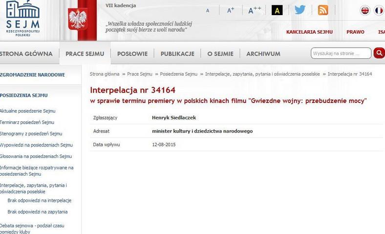 screen ze strony www.sejm.gov.pl
