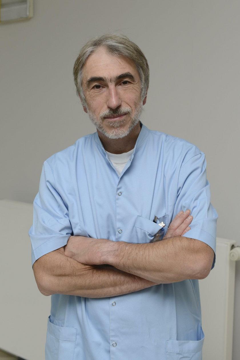 dr Adam Domanasiewicz (50 l.) z Kliniki Chirurgii Urazowej i Chirurgii Ręki USK