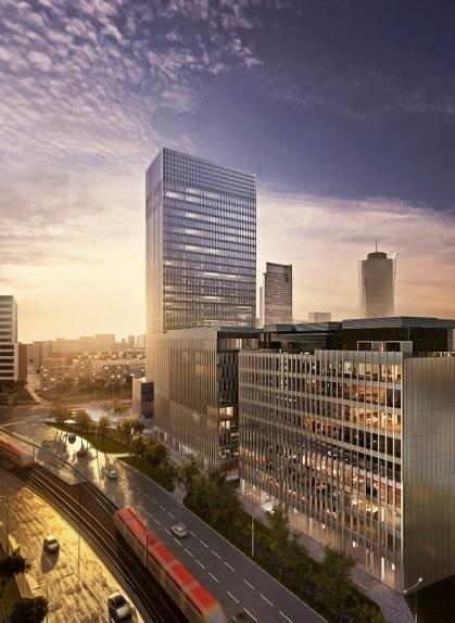 Spark będzie nowoczesnym kompleksem trzech budynków biurowych (wizualizacja)