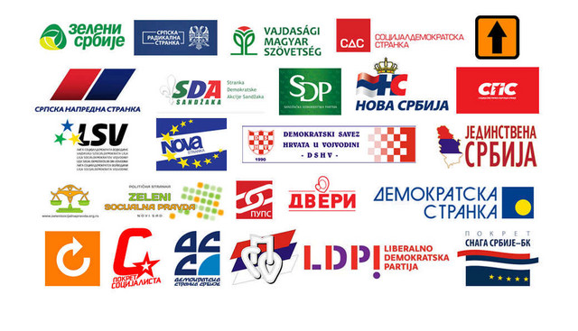Srbija zemlja političkih stranaka