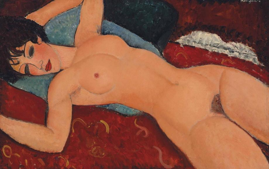 "Amadeo Modigliani, ""Nu couché"", 1917"