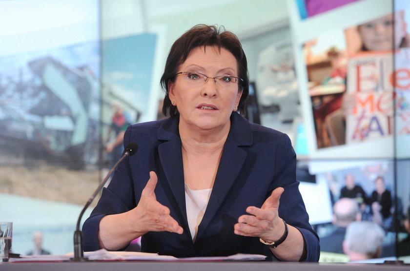 Ewa Kopacz przekonuje górników o koniecznosci reform w kopalniach