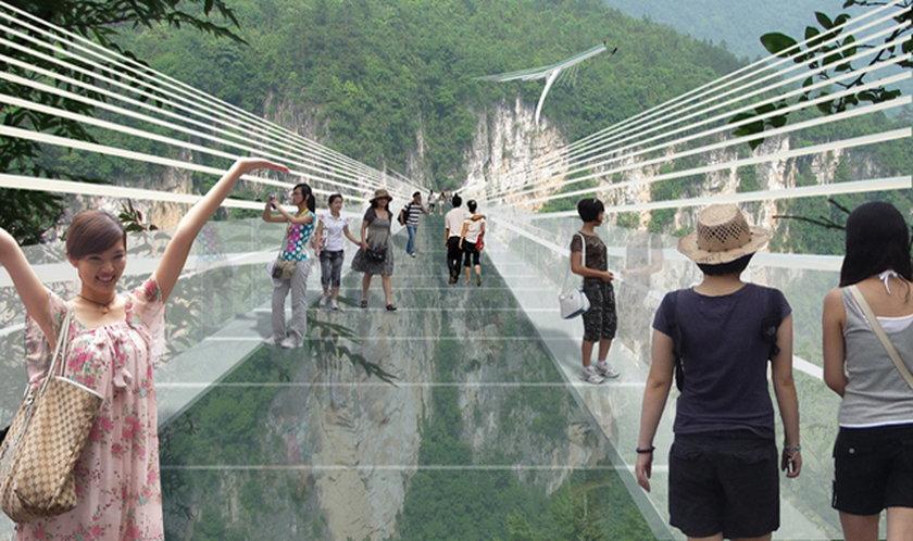 Rekordowy szklany most łączy brzegi kanionu
