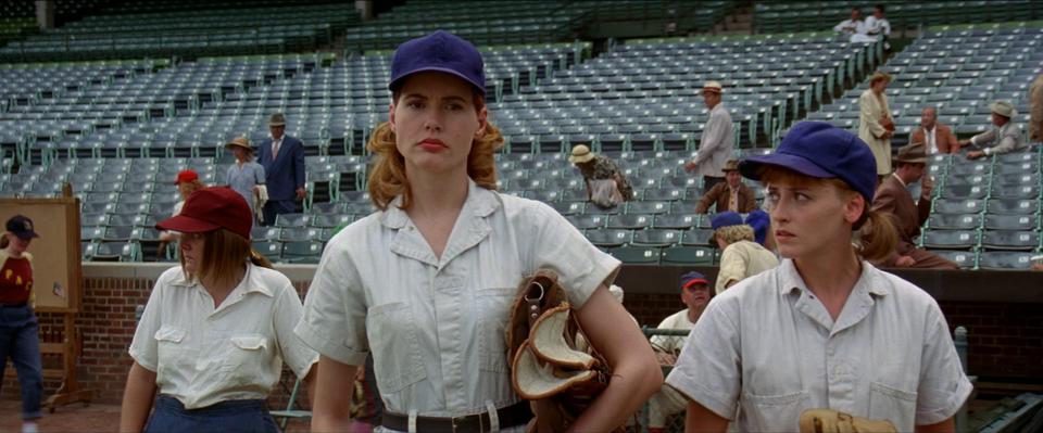 """Dottie i Kit, """"Ich własna liga"""", reż. Penny Marshall, 1992 r."""