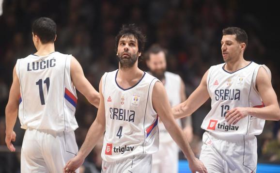 Vladimir Lučić, Miloš Teodosić i Dragan Milosavljević