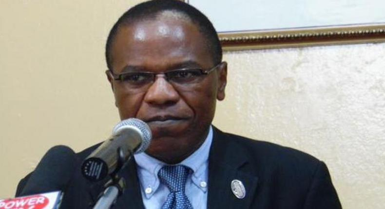 Liberia's Chief Medical Officer Francis Kateh