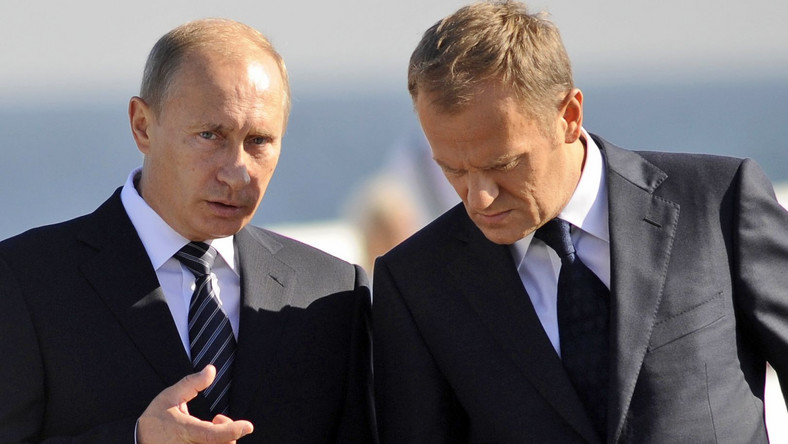 Donald Tusk i Władimir Putin