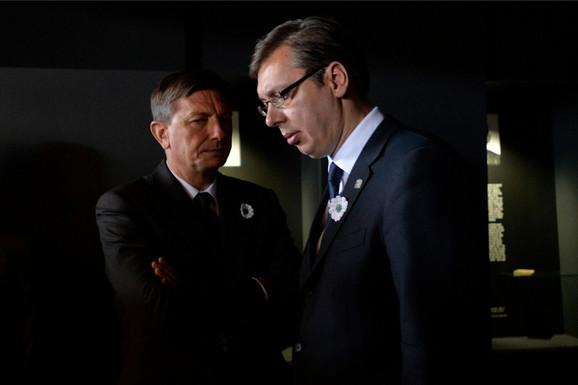 Pahor i Vučić u Srebrenici