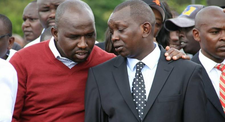 File image of Kapseret MP Oscar Sudi with Kipchumba Murkomen