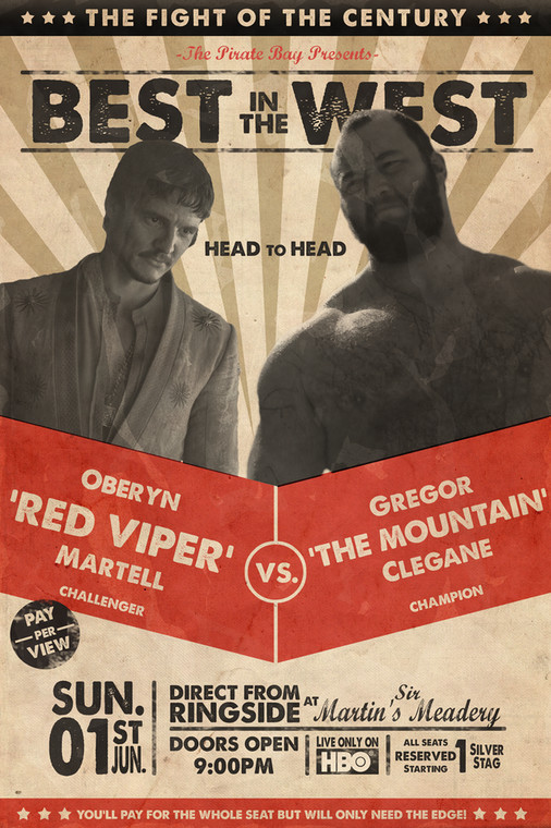"Oberyn ""The Red Viper"" Martell vs. Gregor ""The Mountain"" Clegane"