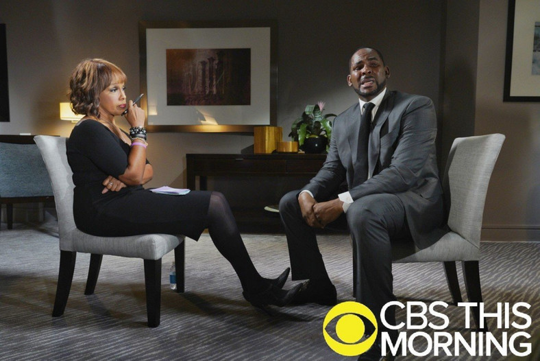 R.Kelly during his now famous interview with Gayle King [CBS]
