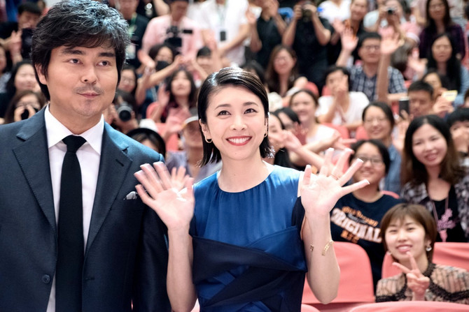 Yuko Takeuchi  i glumac  Ozawa Yukiyoshi na Televizijskom festivalu 2018. u Šangaju