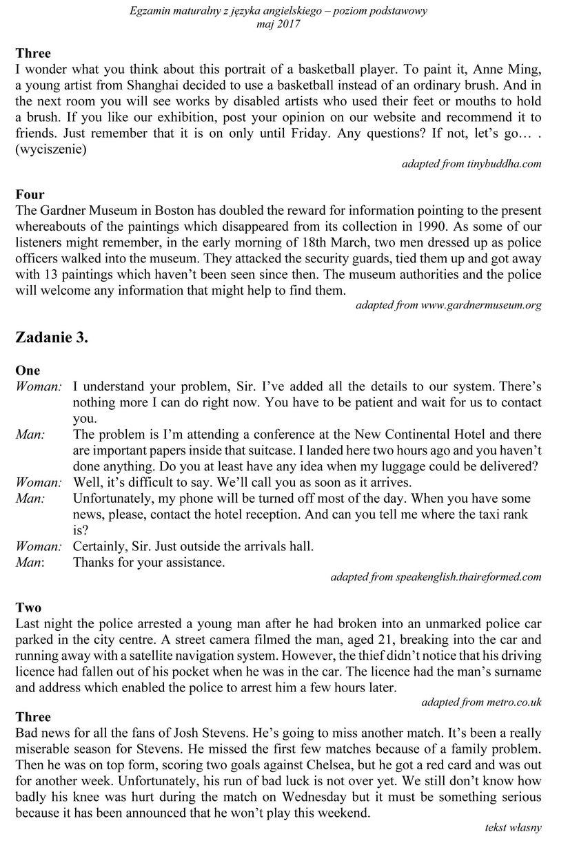 Matura 2017 język angielski