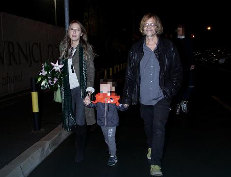 Žika Todorović sa suprugom i sinom