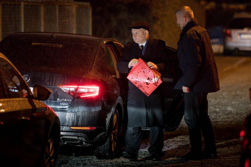 Jarosław Kaczyński odwiedził przyjaciółkę