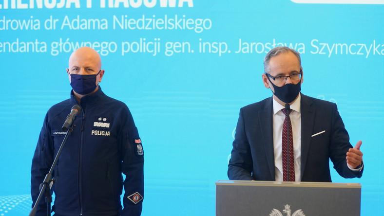 Konferencja prasowa Adama Niedzielskiego i Jarosława Szymczyka