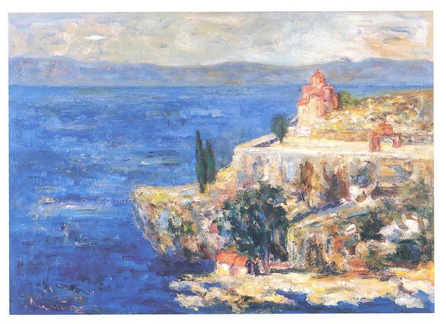 """Kiro Stankovski, """"Ohrid"""", ulje na platnu, 2009."""