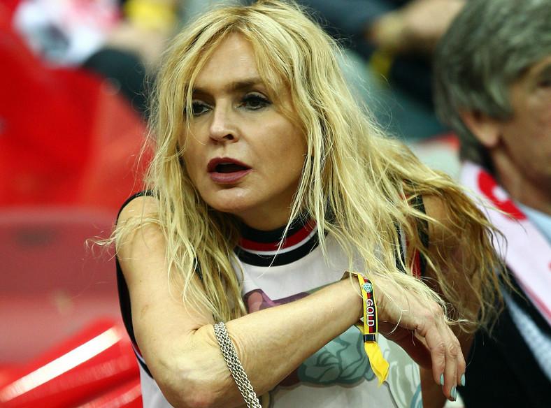 Monika Olejnik na Stadionie Narodowym