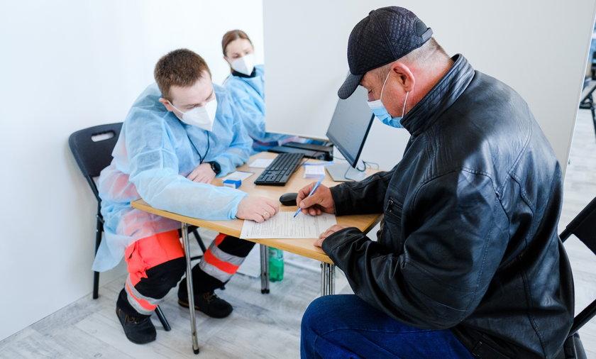 Punkt masowych szczepień przeciwko COVID -19 w Czerwionce-Leszczynach.