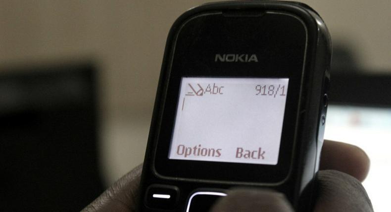 A GSM user in Nigeria