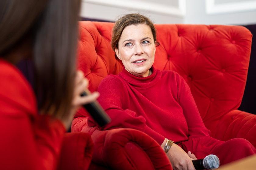 Agata Kulesza ma gwiazdę w Alei Gwiazd na Piotrkowskiej w Łodzi