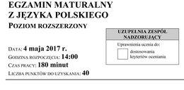 Matura 2017: język polski - poziom rozszerzony. Arkusze i odpowiedzi