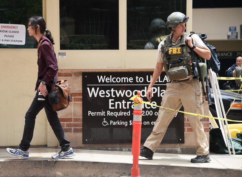 Oficer FBI na terenie uniwersytetu
