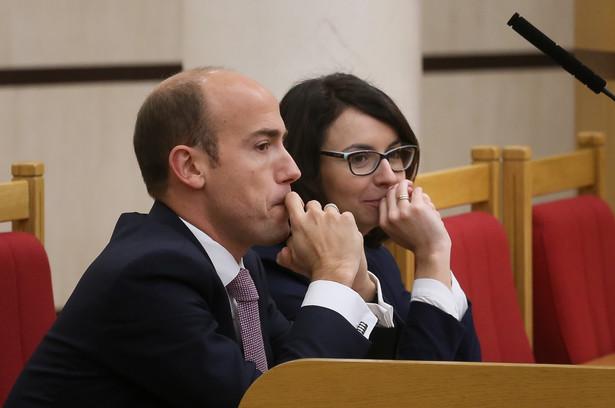 Poseł PO Borys Budka i posłanka Nowoczesnej Kamila Gasiuk-Pihowicz