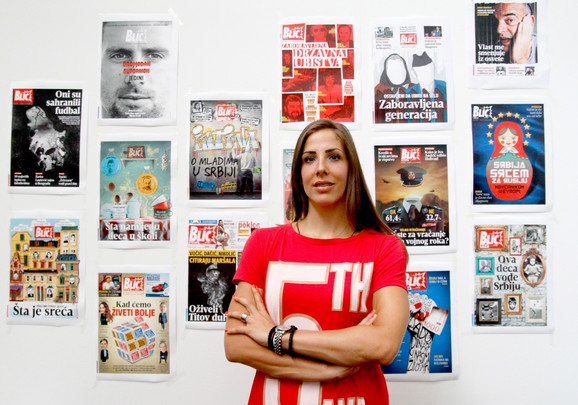 Tijana Malešević u redakciji